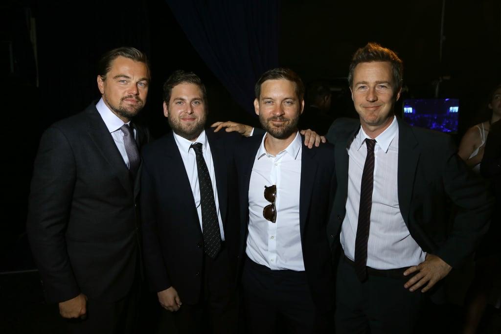 Leonardo DiCaprio and Bradley Cooper at Foundation Gala 2016