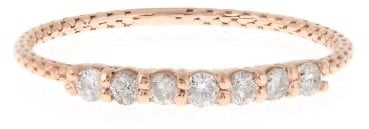 Jacquie Aiche White diamond & rose-gold ring ($1,185)