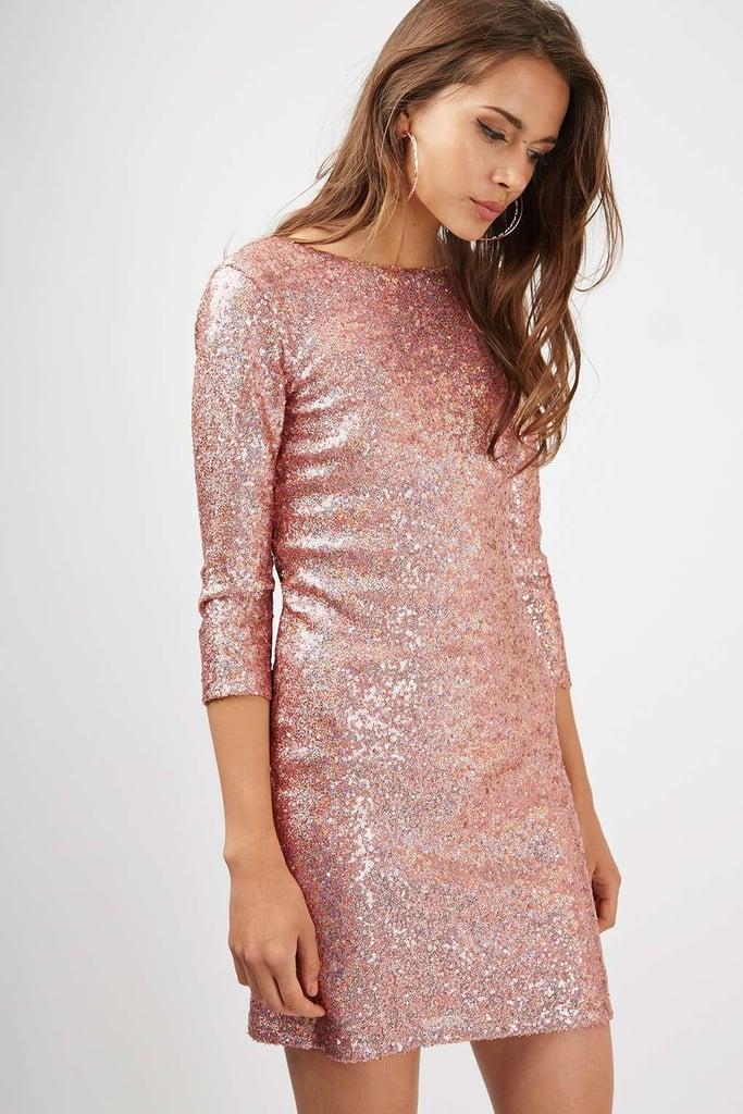 Cheap pink sequin dresses