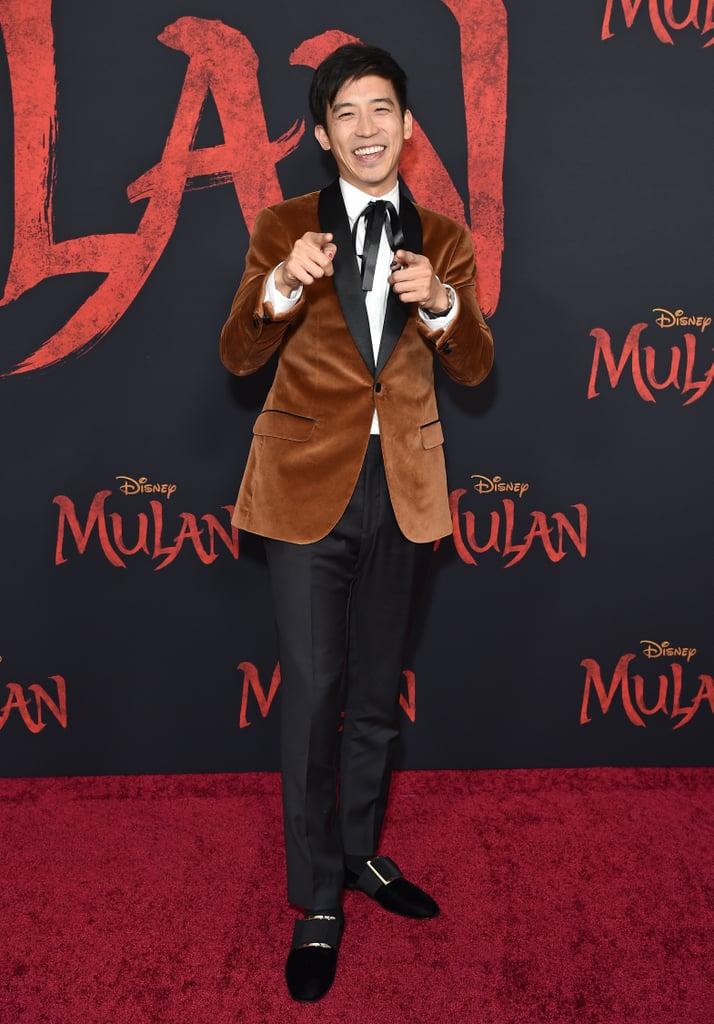 جيمي وونغ في العرض العالمي الأول لفيلم مولان في لوس أنجلوس