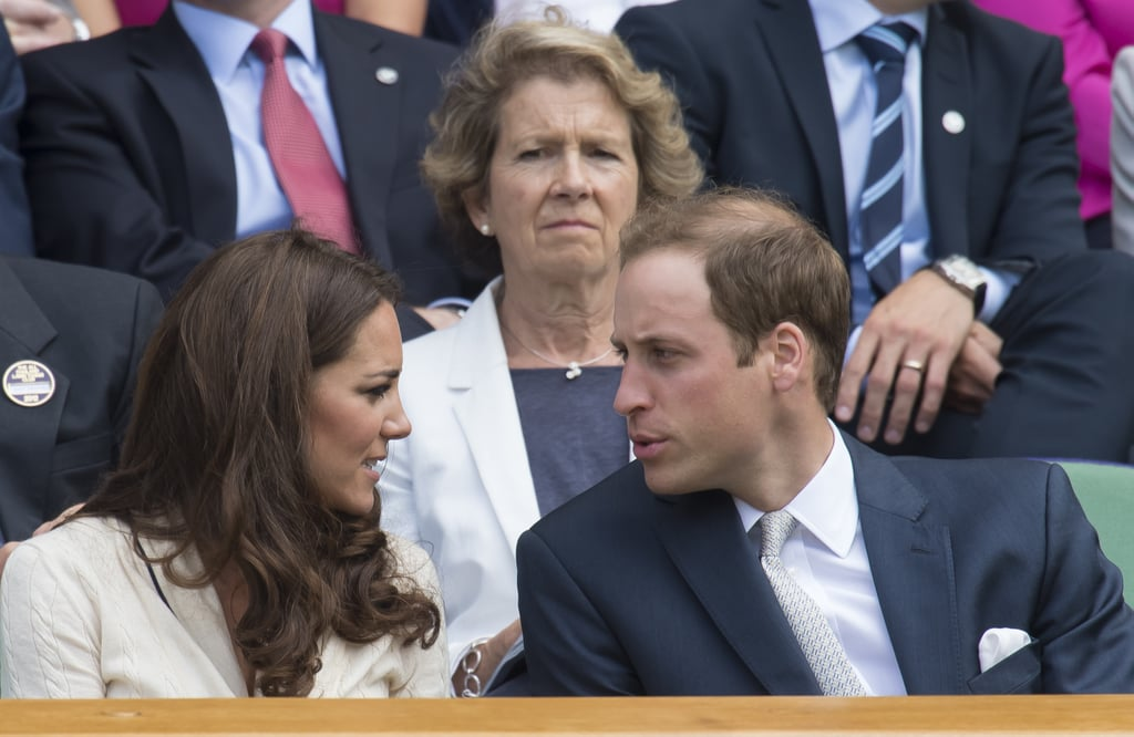 Kate Middleton and Prince William watched tennis.