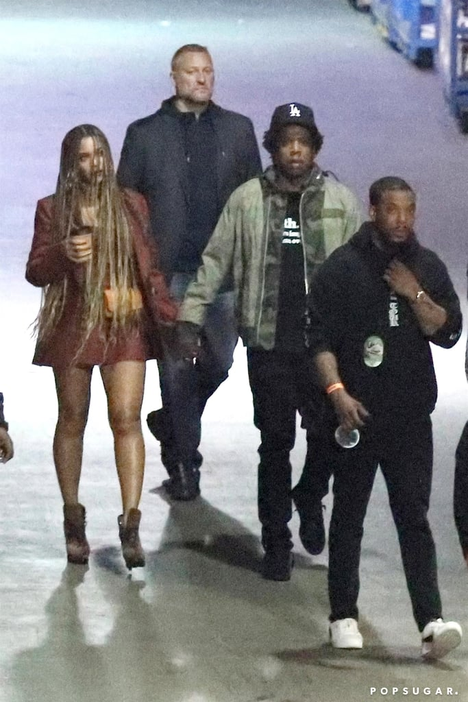 beyonc jay z kim and kanye at travis scott 39 s la concert popsugar celebrity uk. Black Bedroom Furniture Sets. Home Design Ideas