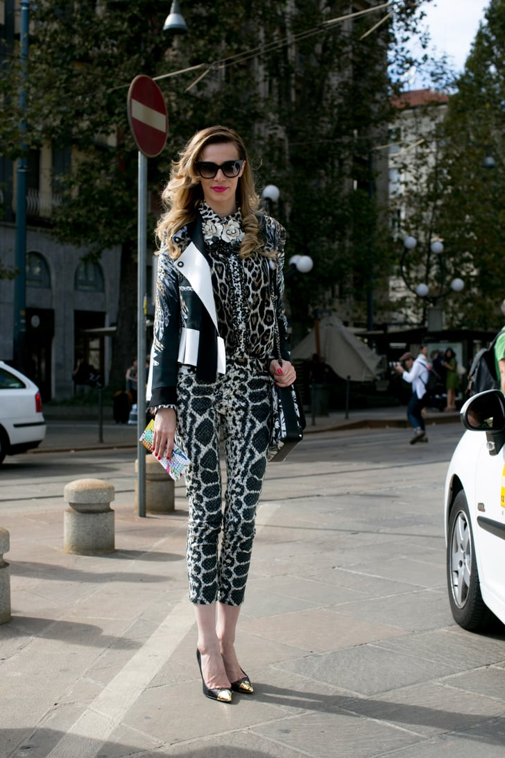 A little wild print on pretty tame silhouettes.