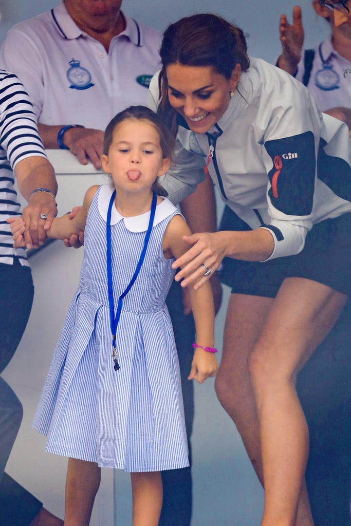 Princess Charlotte Sticking Tongue Out at King's Cup Video