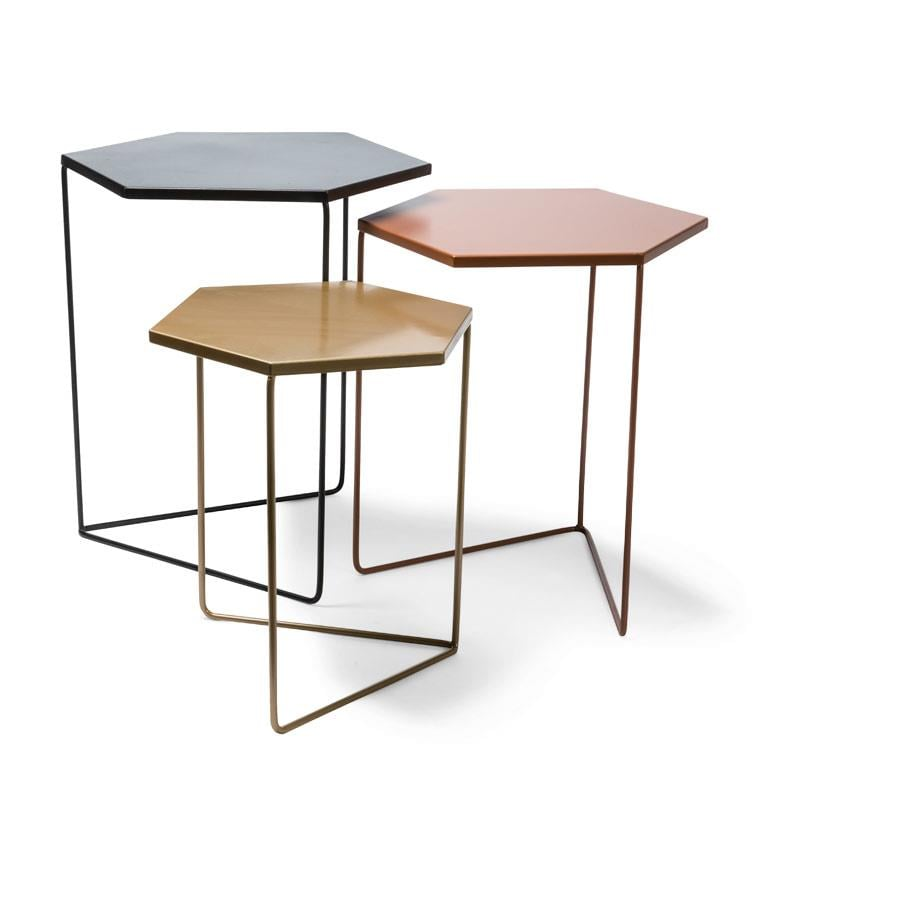 Kmart Nested Metal Geometric Tables Set Of 3 35