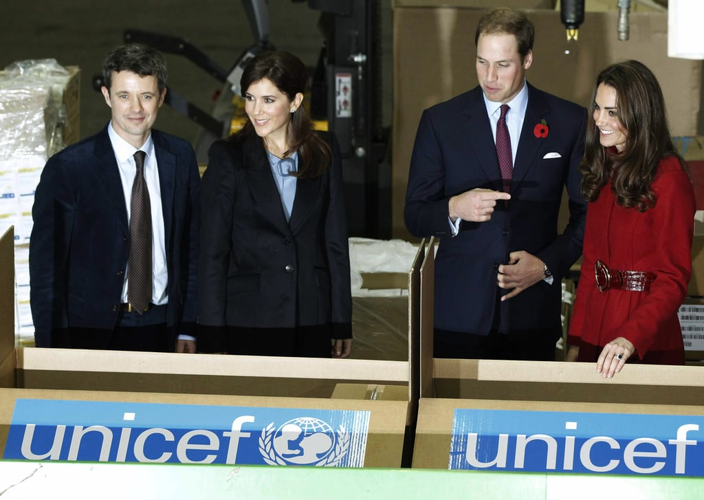 William and Kate Meet With Mary and Frederik