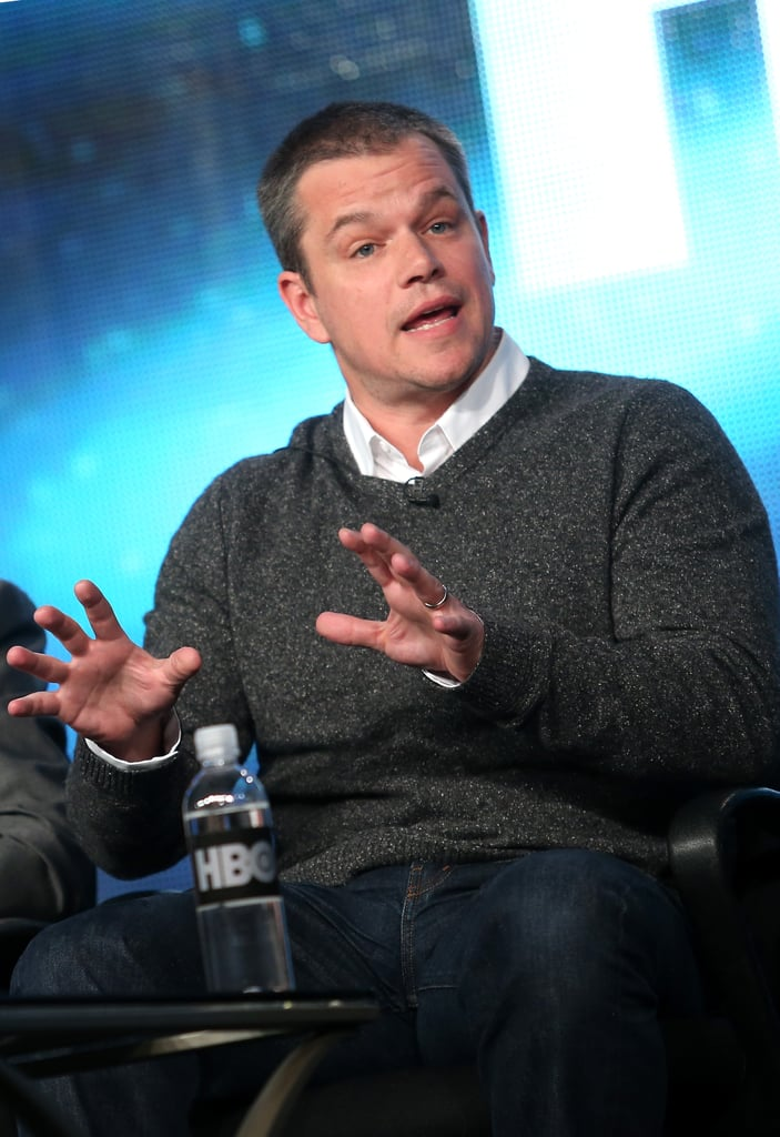 Matt Damon attended the 2013 TCA Panel in Pasadena.