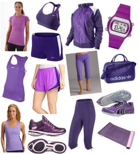 Purple Workout Clothing and Gear