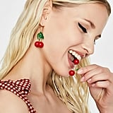 Red Sweet Tart Cherry Earrings