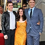 Dave Franco, James Franco, and Betsy Lou Franco