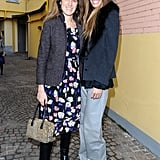 Coco and Bianca posed for photos during Milan Fashion Week in 2012.
