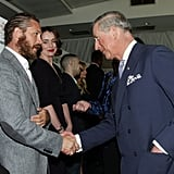 Prince Charles took a moment to speak with Tom Hardy and actress Keeley Hawes during The Prince's Trust Celebrate Success Awards at Odeon Leicester Square in March 2012.