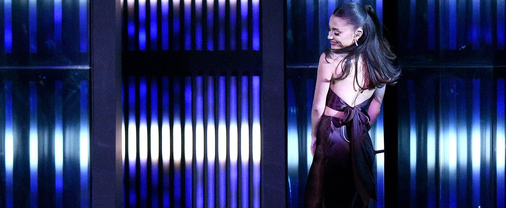 Ariana Grande Wears Wedding Ring With Rat & Boa Skirt Set