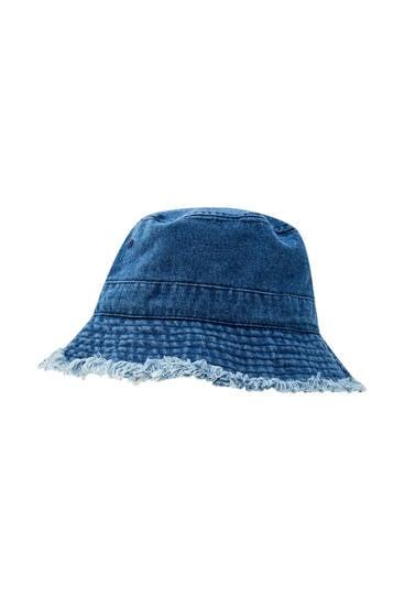 pull&bear Denim Bucket Hat