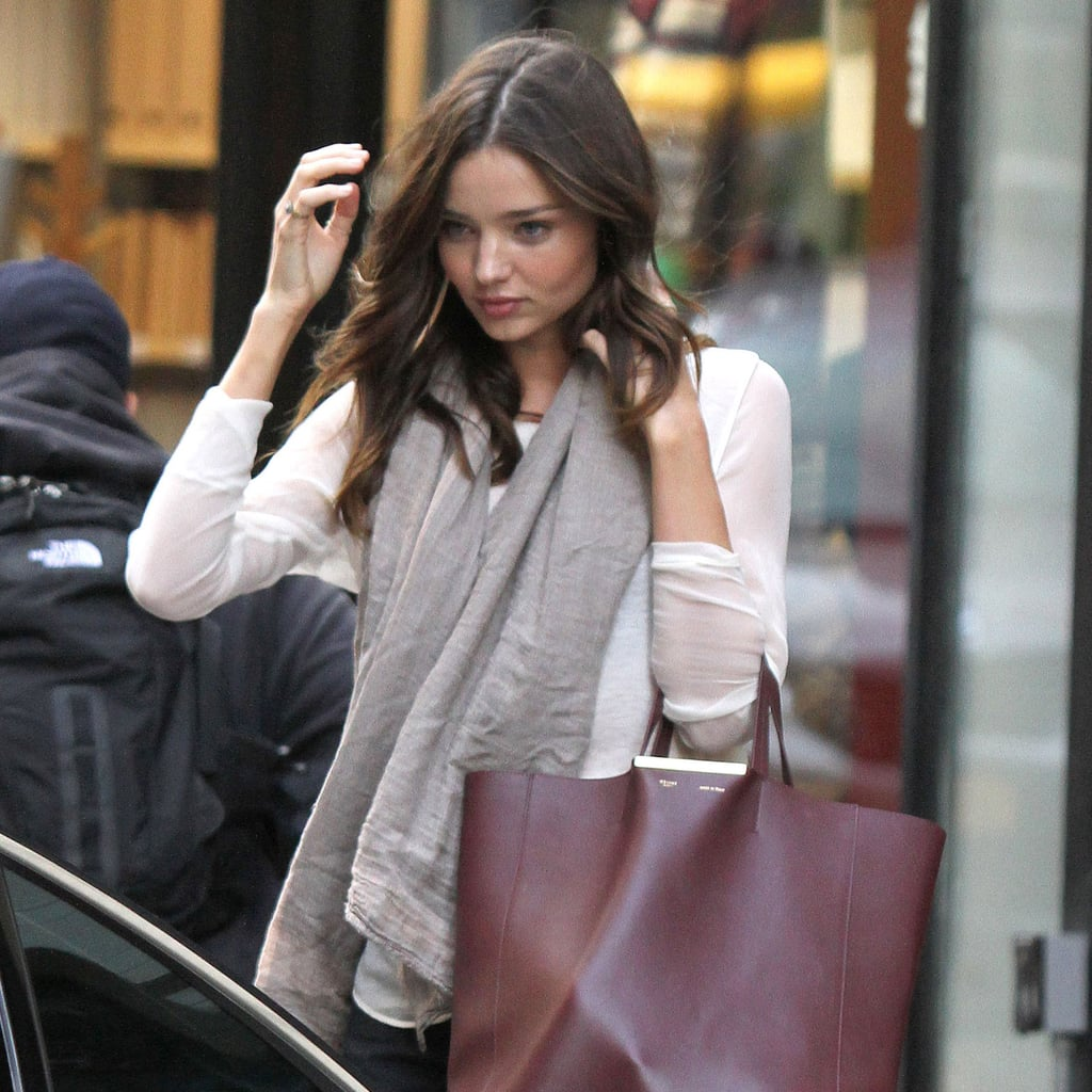 Miranda Kerr With Red Bag in NYC