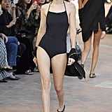 And Wore a Simple Black One-Piece