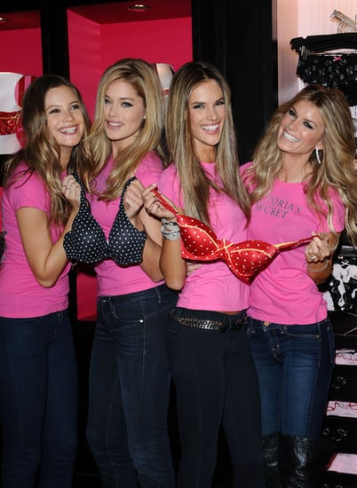 Victoria's Secret Angels in their store in New York