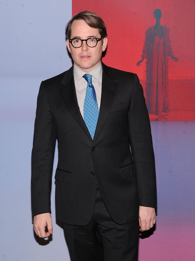 Matthew Broderick came out to support Valentino.