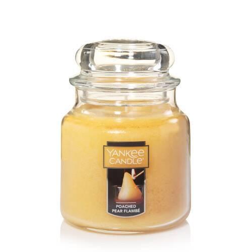 Poached Pear Flambé Medium Classic Jar Candle