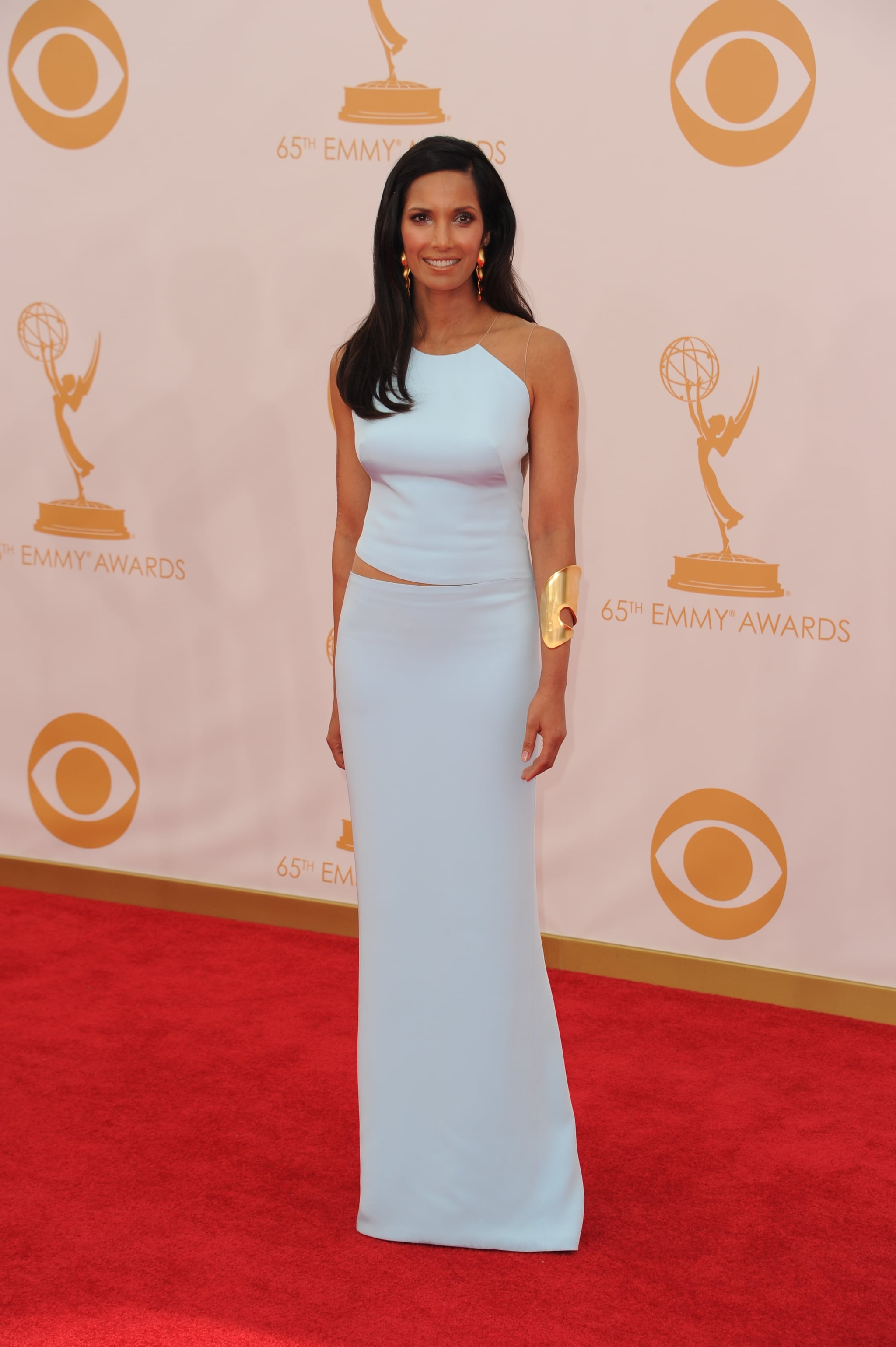 Padma Lakshmi hit the red carpet for the Emmys.