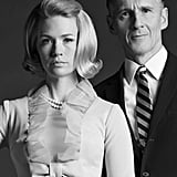 January Jones and Christopher Stanley on Mad Men.