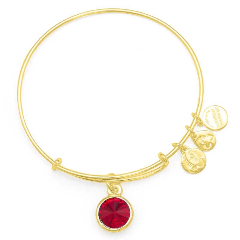 Alex and Ani July Birthstone Charm Bangle