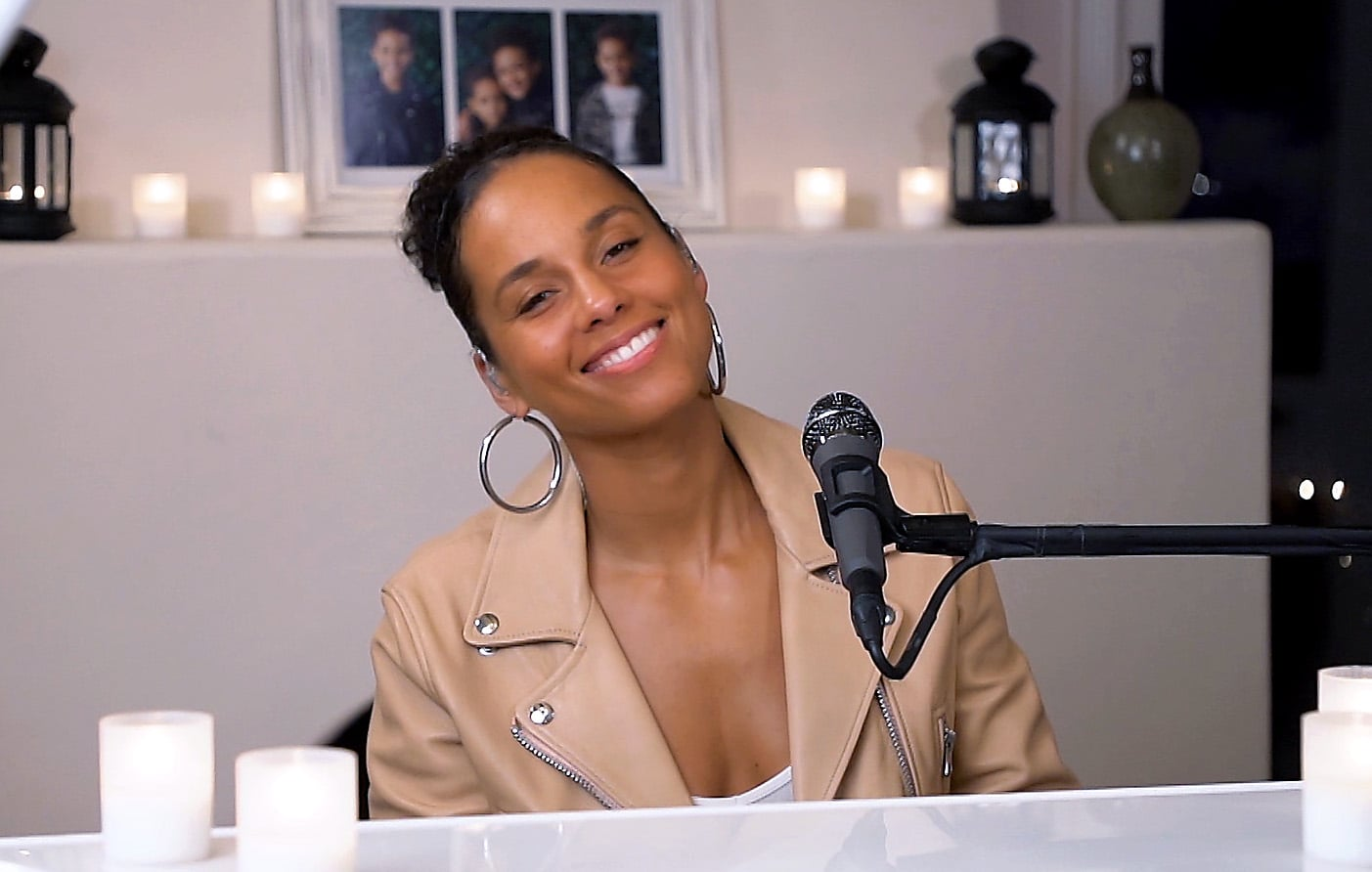 UNSPECIFIED,  - APRIL 22: In this screengrab, Alicia Keys performs during