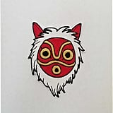 Princess Mononoke Mask Fully Embroidered Patch ($14)