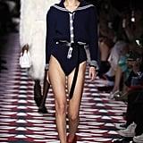 Bella Hadid on the Miu Miu Fall 2020 Runway at Paris Fashion Week