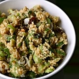 Millet With Red Lentils, Spring Onions, and Raisins