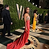 Kerry Washington arrived at the Vanity Fair Oscar party on Sunday night.