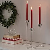 Vinterfest Tall Red Unscented Candles