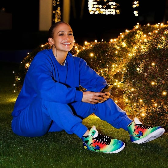 Jennifer Lopez Wears J Balvin's Air Jordan Retro Sneakers