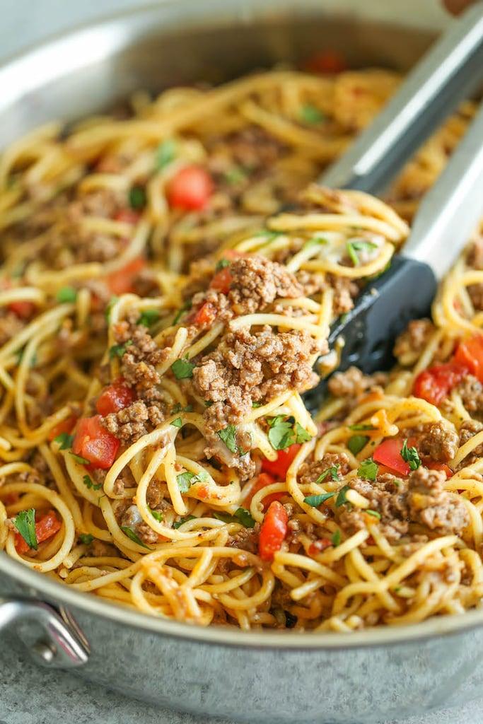 Easy Taco Spaghetti