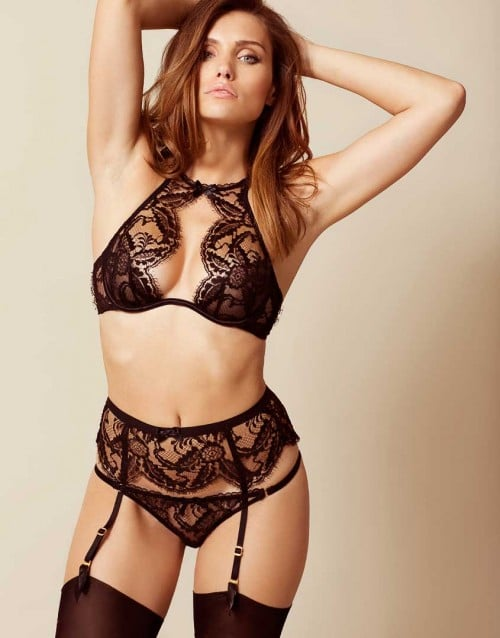 Agent Provocateur Kendall Bra Black ($250) and Thong Black ($145)