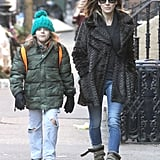 Sarah Jessica Parker and James Wilkie Broderick went for a walk in NYC.