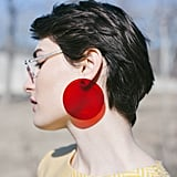 Transparent Red Earrings