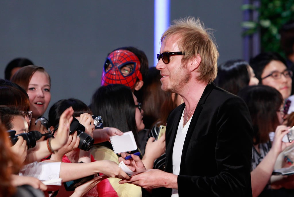 Rhys Ifans spent time with fans.