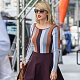 Taylor Swift With Bold Lipstick