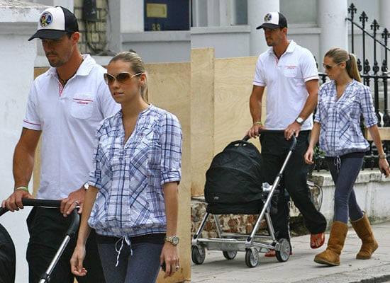 Pictures of Kevin Pietersen and Jessica Taylor With Baby Dylan