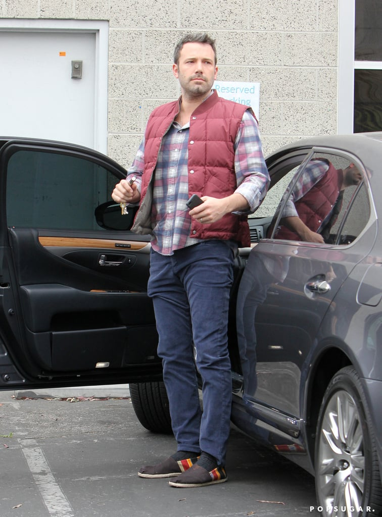 Ben Affleck wore a puffy vest.