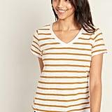 EveryWear Slub-Knit Striped V-Neck Tee