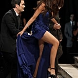 Hot damn! The slit on Sofia Vergara's Roberto Cavalli is too sexy for words.