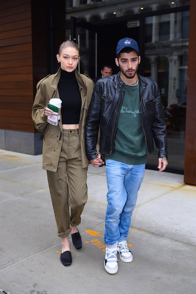 For a casual outing with her beau, Zayn Malik, Gigi dressed head to toe