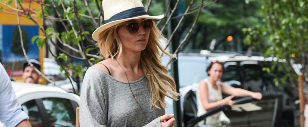 Jennifer Lawrence Wearing Denim Cutoffs
