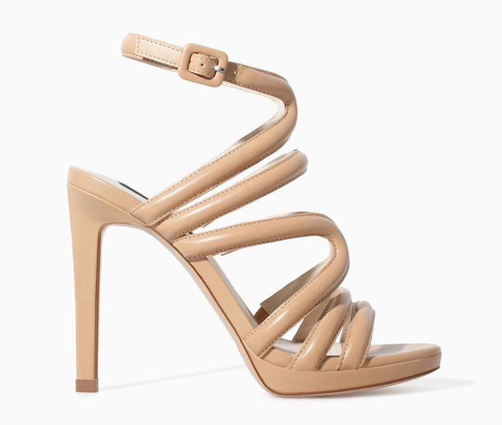 Zara Strappy Nude High Heel Sandals 80 Best Shoes