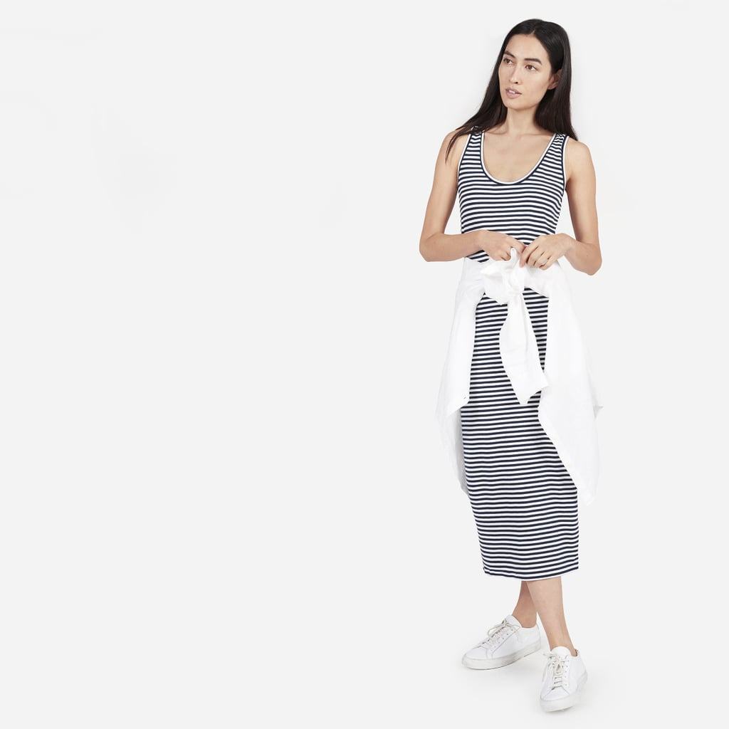 Everlane The Cotton Striped Tank Dress ($35)