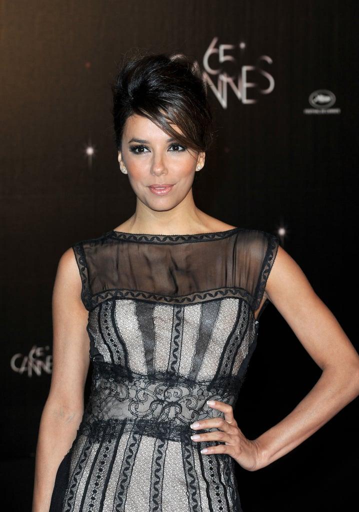 Eva Longoria got dressed up for the opening dinner at the Cannes Film Festival.