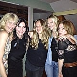 Courteney Cox had the help of her friends, Isla Fisher, Laura Dern, Jennifer Meyer, and more to celebrate her 49th birthday in LA. Source: Twitter user CourteneyCox