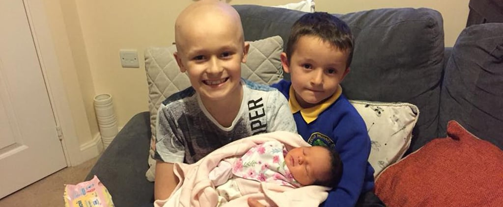 Boy With Cancer Fights Long Enough to Meet Baby Sister